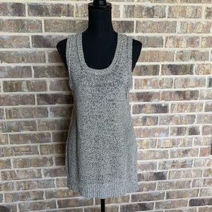 Sparrow open knitted sleeveless sweater tunic